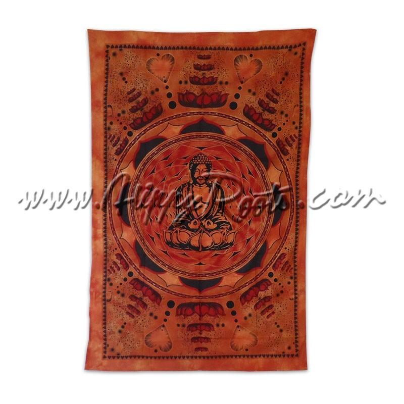 Pano Indiano Buda Sobre Lotus