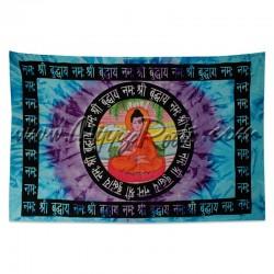 Pano Indiano Buda Com Mantra
