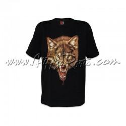 T-shirt Brilha No Escuro Lobo Sangrento