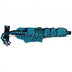 Bolsa de Cintura Azul Claro Tecido Grosso