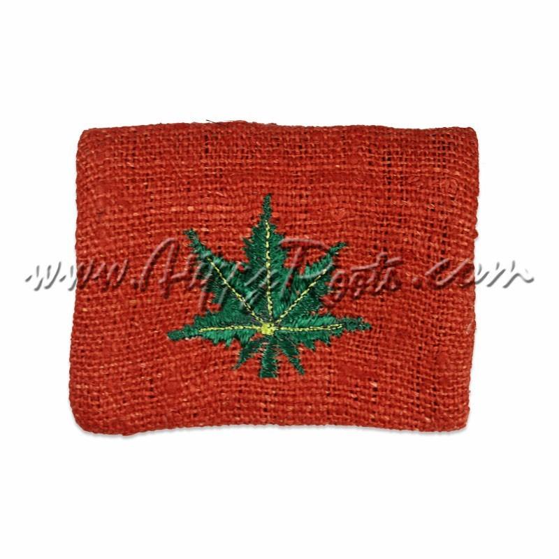 Porta-moedas Artesanal Canhamo Weed