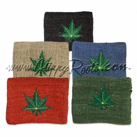 Porta-moedas Artesanal Cânhamo Weed