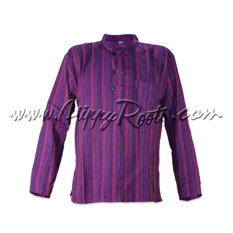 Camisa Listrada Lilas