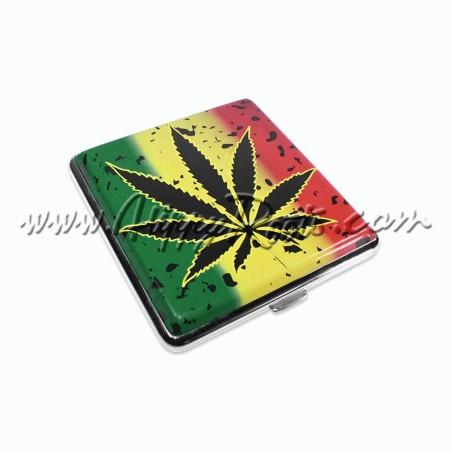 Cigarreira Cannabis Rasta Salpicada