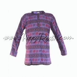 Camisa Etnica Om Lilas