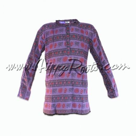 Camisa Étnica Om Lilás