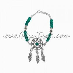 Pulseira Caçador de Sonhos Opala Verde