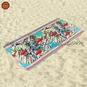 Toalha de Praia Tie-Dye Flamingos