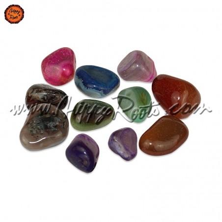 Pedras Ágatas Coloridas Roladas