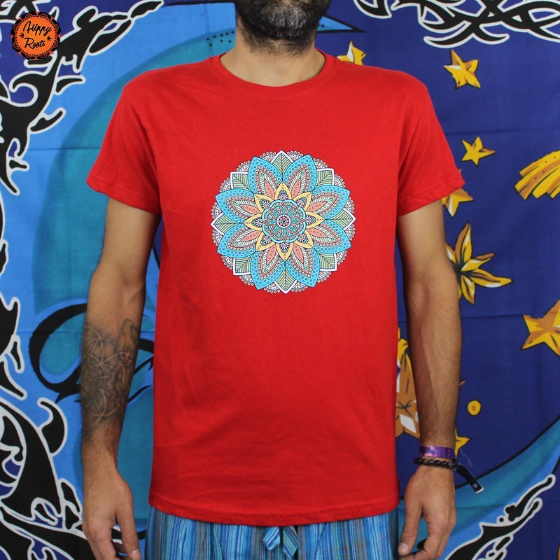 T-shirt Mandala Flores