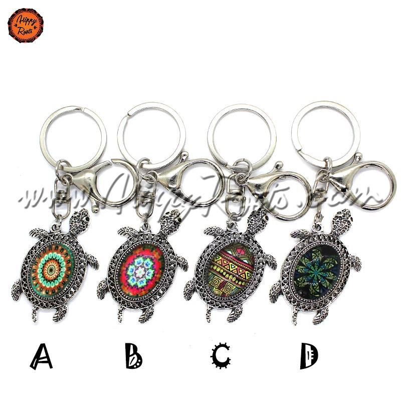 Porta-chaves Mandala Tartaruga