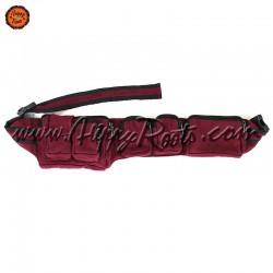 Bolsa de Cintura Bordô Tecido Grosso