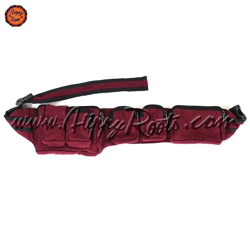 Bolsa de Cintura Bordo Tecido Grosso