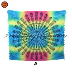 Pano Indiano Tie-Dye Mandala Tradicional