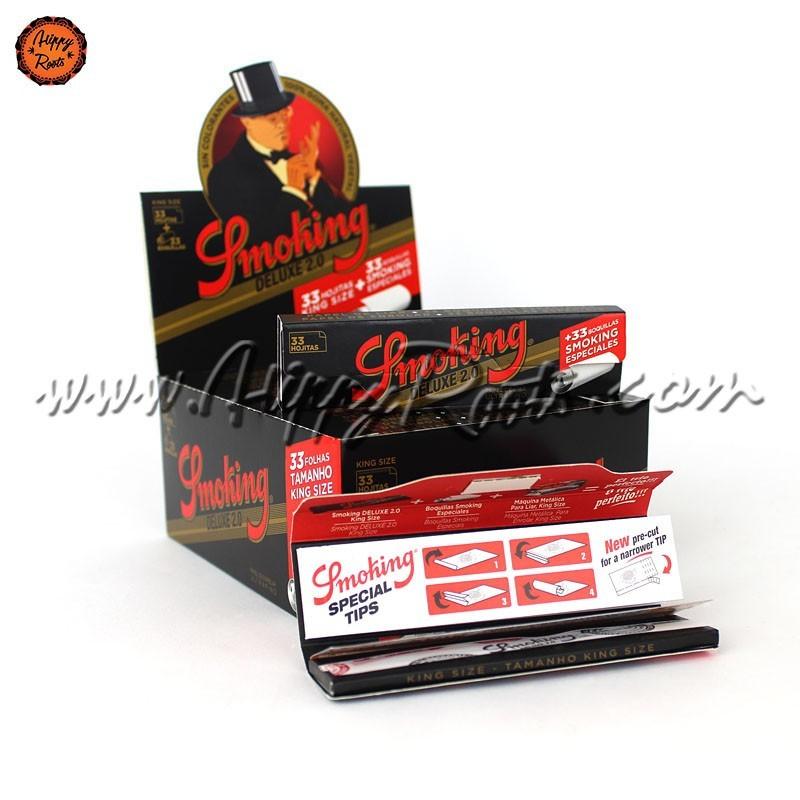 Caixa Mortalhas Smoking King Size 2.0 Deluxe e Filtros