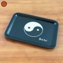 """Bandeja Plástico """"Yin Yang"""" (17,5x12,5) Black Leaf"""
