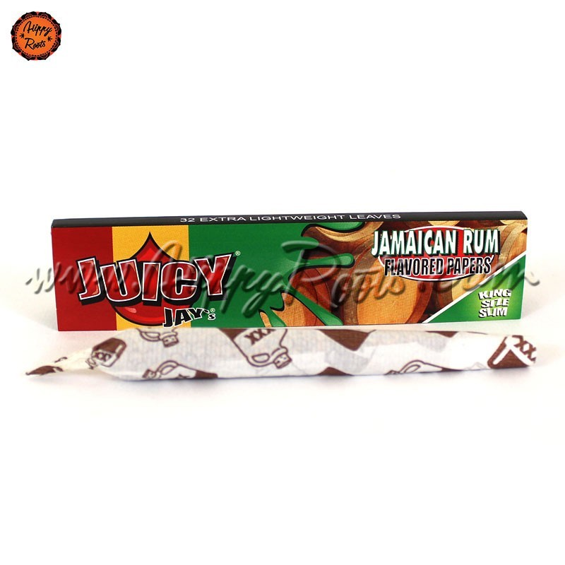 Mortalhas Sabor Juicy Jays King Size Rum Jamaicano