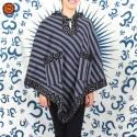 Poncho Etnico com Capuz