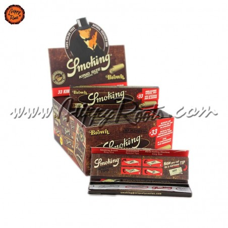 Box smoking Brown King Size Rolling Papers And Tips