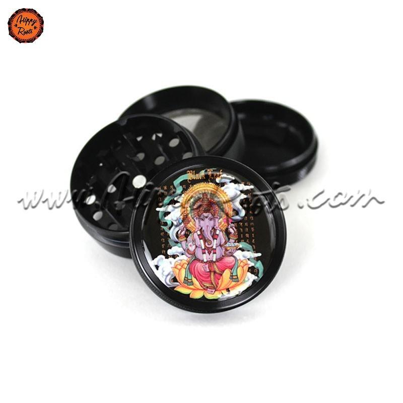 Grinder Black Leaf Ganesha 4 Partes