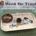 Grinder Black Leaf Rasta 4 Partes