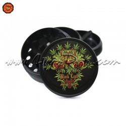 """Grinder Black Leaf """"Leaf Skull"""" 4 Pt"""