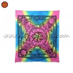 Pano Indiano Tie-Dye Bussola Horoscopo