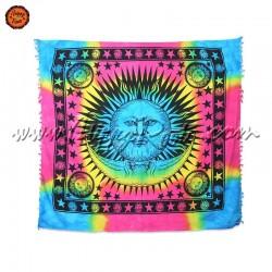Pano Indiano Tie-Dye Sol e Lua