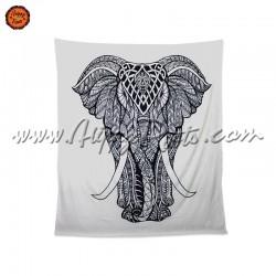 Pano Indiano Elefante Preto