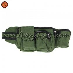 Bolsa de Cintura Verde Tecido Grosso