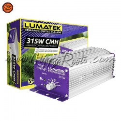 Balastro Lumatek 315W CMH Controlável com Potenciómetro + Adaptador E40