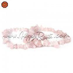 Pulseira Chip Quartzo Rosa