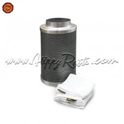Filtro Carvao Ativado Pure Filter 160x400mm 800m3/h