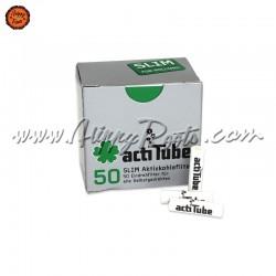Filtros actiTube Carvão Ativado Slim Caixa 50