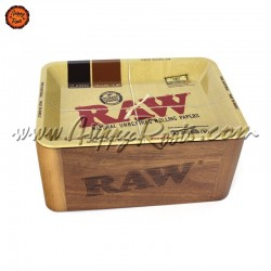 Caixa Cache Madeira RAW c/ Tabuleiro Mini