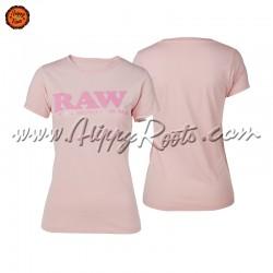 T-shirt RAW Rosa Mulher...