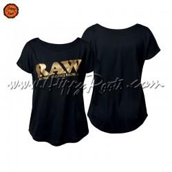 T-shirt RAW Preta Mulher...