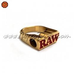 Raw 24K Gold Smoker Ring